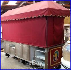 128 Popcorn Vending Cart Theme Park Carnival #4319 Kiosk Stand Walt Disney NSF