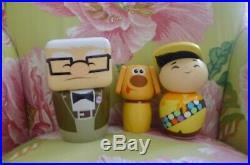 145 Art of Disney wooden Up character (Dug, Carl, Russel) theme park collectible
