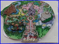 195C Walt Disney World Cast Atlas Magic Kingdom 5 pin puzzle LE 3000