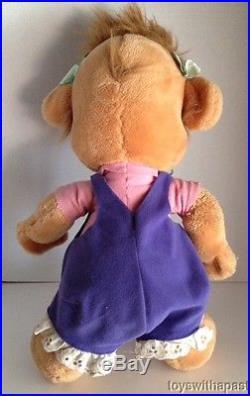 1990s Tailspin MOLLY CUNNINGHAM Bear 17 Plush Disney Theme Park Stuffed RARE