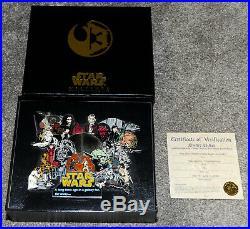 2006 Star Wars Weekend Super Jumbo Pin Vader, Maul, Bobba Fett, Yoda LE 750