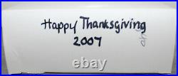 2007 Disney Happy Thanksgiving Mickey Minnie Goofy Pluto Feast Jumbo Le 500 Pin