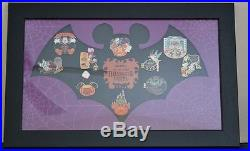 2011 Disney Mickey's Not So Scary Halloween Party Framed Pin Set of 10 LE200
