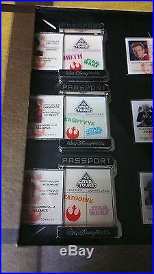 2011 Disney Star Wars Weekends Passport Pin Set MINT LE 300 RARE WDW