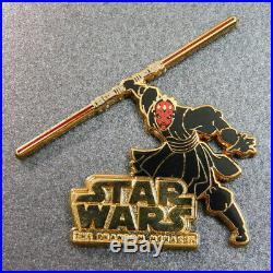 2015 D23 Disney Star Wars BOXED PIN SET Darth Maul Vader Boba Fett Light Sabers+