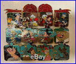 2019 Disney Parks Mickey's Christmas Carol 12 Piece Limited Edition Pin Set