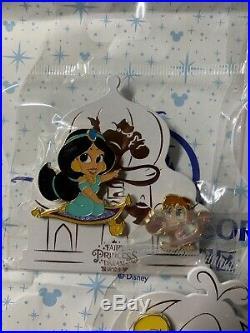 2019 Shanghai Disney Princess Pin Ariel Mulan Jasmine Cinderella Tiana LE800