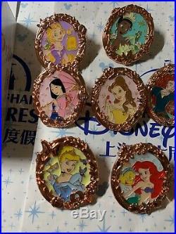 2019 Shanghai Disney Princess Pin Mystery Box Full Set 10 pinsAriel Tangled