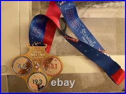 2020 Run Disney Princess Marathon Medals Challenge, Half, 10K & 5K (4 Medals)
