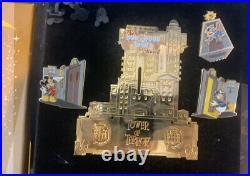 59034 Disney jumbo 4 pin Pin Disneyland Paris Tower Terror Stitch Limited LE 600