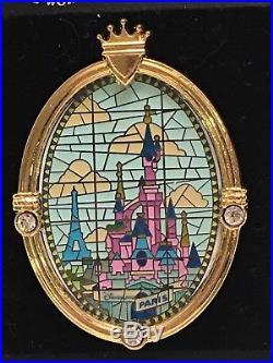 5 Disney Cinderella Castle Window Stain Glass Pins DLR, WDW, Paris, Tokyo, Hong Kong