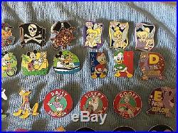 62 EXACT PINS SHOWN! WDW Disney Cast Lanyard Series 4 (now called Hidden Mickey)
