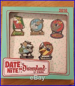 ATTRACTION VEHICLE 5 PIN BOX SET Retro LE150 Date Nite Disneyland 2016 Disney