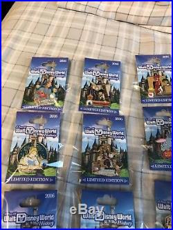 A Piece Of Walt Disney World History Limited Edition Complete Set! 18 Pins