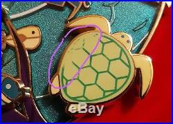 Acme Hotart Disney Little Mermaid Ariel Flounder Fish Jumbo Litho Box Pin Le 100