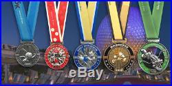 Alt Disney World 2019 Marathon weekend finisher medals 5 Medals Goofy run LAST 1