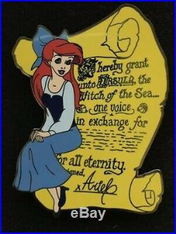 Ariel Contract Disney Fantasy Pin LE 23/100 HTF Ursula Vanessa Mermaid Rare