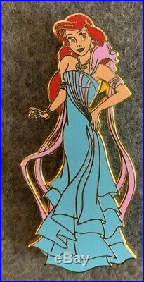 Ariel and Eric Mardi Gras Disney Fantasy 2 Pin Lot LE 40/50 HTF Mermaid Rare