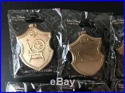 Authentic Disney WDI Princess Crest Hinged 11 Pin Set LE 250