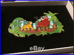 BNWB Disney Lion King Disneyland Paris Jumbo Pin RARE LE 400 Simba Timon Pumba