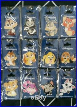 Big Head Cuties Full set Disney Land Paris Dlp 12 pins (Marie Chip Simba Lady)