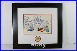 C2 Disney WDW LE 50 Framed Pin Set PETE'S GARAGE Pedro Susie Mickey's Toontown
