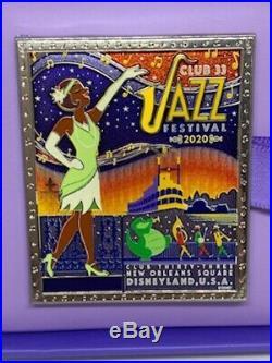 Club 33 2020 Jazz Festival Tiana PATF Jumbo Pin LE