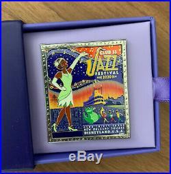 Club 33 2020 Jazz Festival Tiana Princess and the Frog PATF Jumbo Pin LE Disney