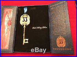 Club 33 Disneyland Exclusive Boxed Gold Brushed Key Ornament