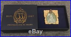 Club 33 Disneyland LE 50th Anniv Pin for December, Tinker Bell & Christmas Tree