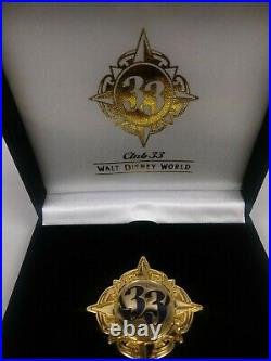 Club 33 Walt Disney World WDW Florida large pin New In Box