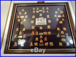 Coca-Cola Salutes Walt Disney World 15th Birthday 60-Pin Framed Set 1986 In Box