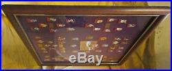 Coca-Cola Salutes Walt Disney World Happy 15th Birthday 60-Pin Framed Set 1986