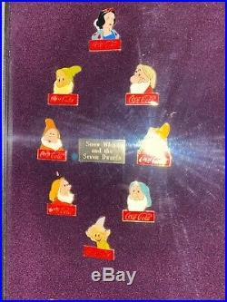 Coca-Cola Walt Disney World's 15th Birthday 60-Pin Framed Set 1986