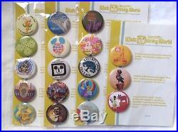 D23 Walt Disney World button sets. Orange Bird Mr Toad Polynesian 18 total