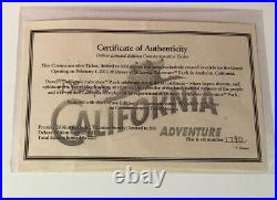 DCA Disney California Adventure Feb 8 2001 Grand Opening Passport Ticket & Pins