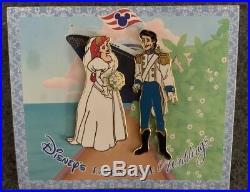DCL Fairy Tale Wedding Gift Pin 9271 Disney Ariel Eric Little Mermaid Rare HTF