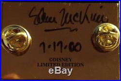DISNEY 45th ANNIV DISNEYLAND ORIGINAL 1958 SOUVENIR MAP PIN SAM McKIM SIGNED NEW