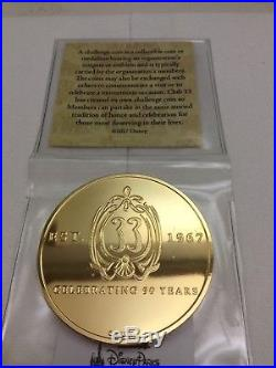 DISNEY CLUB 33 50th ANNIVERSARY MEMBERS ONLY RARE LIMITED EDITION CHALLENGE COIN
