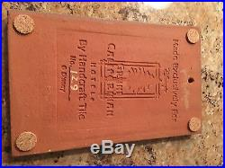 DISNEY GRAND CALIFORNIAN HOTEL HAND CRAFTED pottery TILE #129