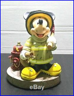 Disney Parks Mickey Mouse Fireman Statue Figurine The Art Of Disney Theme Parks