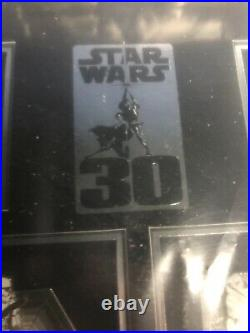 DISNEY STAR WARS WEEKENDS 2007 30TH ANNIVERSARY FRAMED PIN SET LE 100 NEW with COA