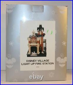 DISNEY VILLAGE LIGHT UP FIRE STATION Theme Parks Retired Brand New, Sealed