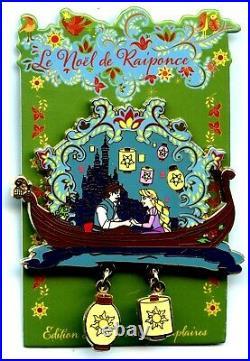 DLP Pin Trading Event Christmas of Rapunzel Rapunzel & Flynn Lantern Scene
