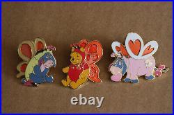 DLR Disneyland Disney Winnie The Pooh Valentine's Day Butterfly Eeyore Heart Pin