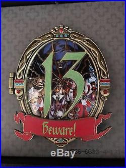 Disney 13 REFLECTIONS OF EVIL SET OF 2 JUMBO PINS LE 250 BELIEVE/BEWARE NIB