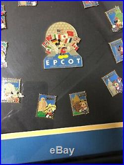 Disney 15th Anniversary EPCOT Commemorative Collectors Framed Pin Set