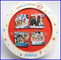 Disney 2015 GenEARation D Event 1964 World's Fair Boxed Set 4 Trading Pins #16