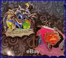 Disney 2016 Mickey's Not So Scary Halloween Party LE1200 ERROR Pin SET Very RARE