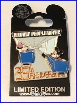 Disney 35th Anniversary WedWay PeopleMover Mickey & Minnie 3-D LE 1000 NEW RARE